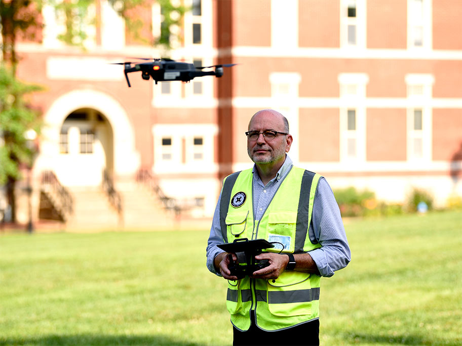 Stacey Woelfel is RJI's new drone director