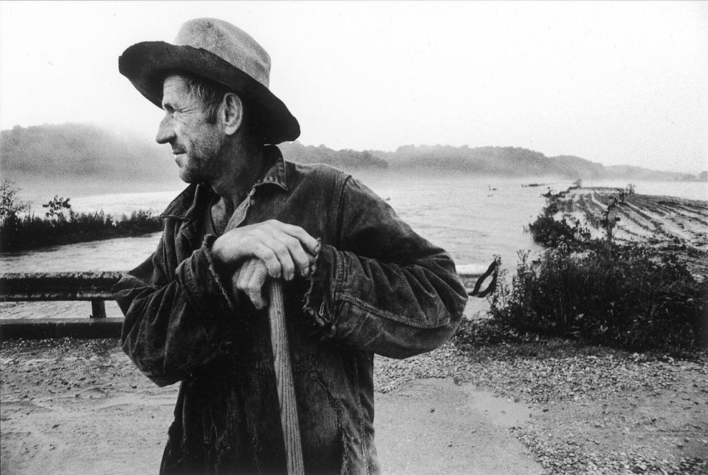 Heavy rains in June 1979 submerged lowland crops in Dubois and surrounding counties. Farmer Oscar Stemle of St. Anthony could only watch as the floodwaters covered corn and soybeans. Photo by Alan Petersime.