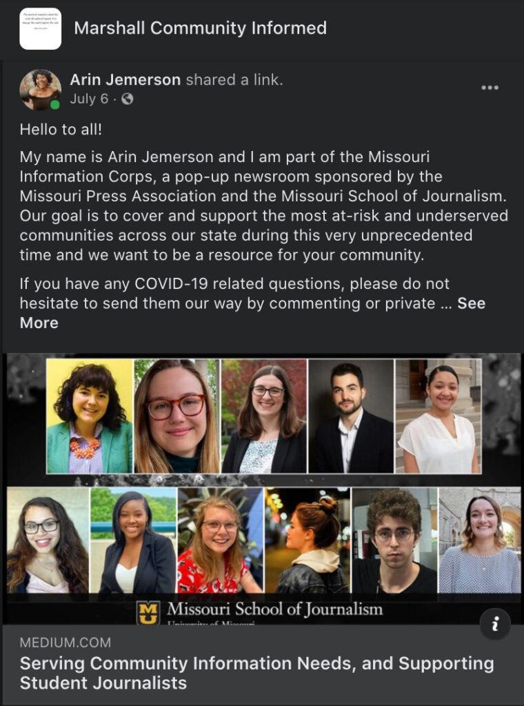 Marshall Community Informed