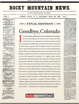 Rocky Mountain News: Goodbye, Colorado