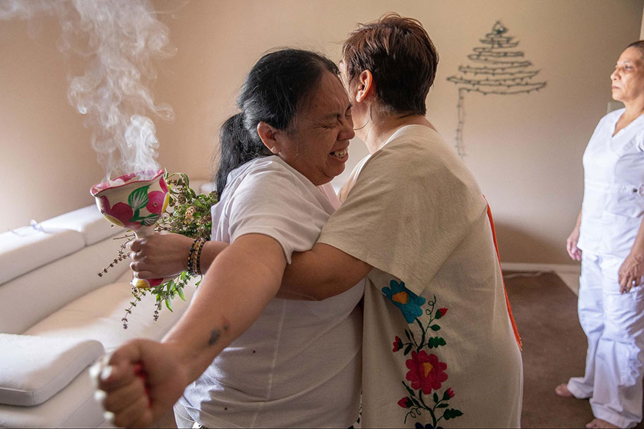 This photo of a curandera cleansing was from this summer in McAllen, Texas. Another instance of building trust and sticking with the story until an opportunity presented itself to show the grief, pain, and spiritual healing happening during the COVID crisis in the Rio Grande Valley. (photo by Julia Robinson)