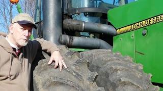 Clyde Bentley and tractor