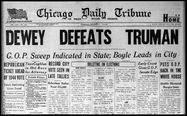 Chicago Daily Tribune   Dewey Defeats Truman