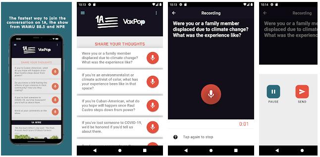 Image: Screenshot of the 1A branded VoxPop app, via Google's Play Store.